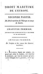 Droit maritime de l'Europe: Volume2