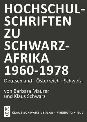 Hochschulschriften zu Schwarzafrika 1960 1978 PDF