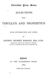 Selections from Tibullus and Propertius