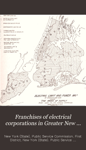 Franchises of Electrical Corporations in Greater New York: A Report Submitted to the Public Service Commission for the First District