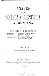 Anales de la Sociedad Científica Argentina: Volumen 25