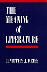 The Meaning Of Literature Book PDF