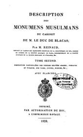 Description des monuments musulmans du cabinet de M. le duc de Blacas