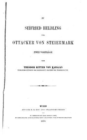 Zu Seifried Helbling und Ottacker von Steiermark PDF