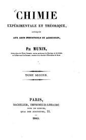 Chimie expérimentale et théorique, appliquée aux arts indistruels et agricoles: Volume2