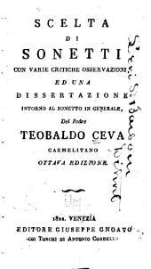 Scelta di sonetti con varie critiche osservazioni