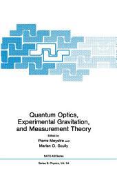 Quantum Optics, Experimental Gravity, and Measurement Theory