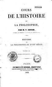 Cours de philosophie: Volume1