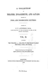 A Collection of Treaties, Engagements, and Sanads Relating to India and Neighbouring Countries: Volume 2