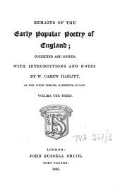 Remains of the Early Popular Poetry of England: Volume 3