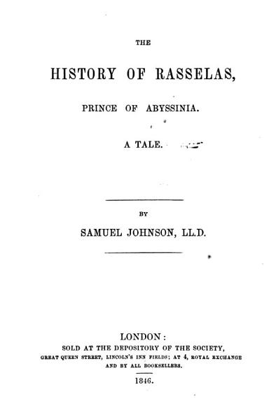 Download The History of Rasselas  Prince of Abissinia Book