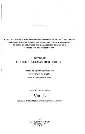 A Hebrew Anthology: Volume 1