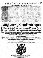 Historica relatio: Jacobi Franci historische Beschreibung aller gedenckwürdigen Historien .... 1623/24 (1624)