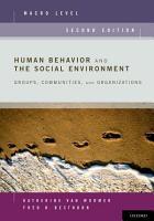 Human Behavior and the Social Environment  Macro Level PDF
