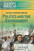 Critical Perspectives on Politics and the Environment PDF