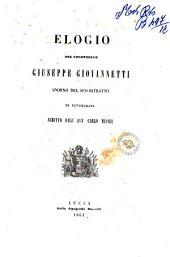 Elogio del colonnello Giuseppe Giovannetti adorno del suo ritratto in litografia