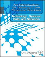An Introduction to Trading in the Financial Markets  Trading  Markets  Instruments  and Processes PDF
