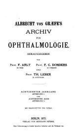 Albrecht von Graefes Archiv für Ophthalmologie: Band 18