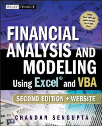 Financial Analysis and Modeling Using Excel and VBA PDF
