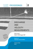 Discharge and Velocity Measurements PDF