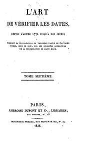 L'Art de vérifier les dates depuis l'année 1770 jusqu'à nos jours: 1828