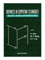 Advances In Computing Techniques  Algorithms  Databases And Parallel Processing PDF