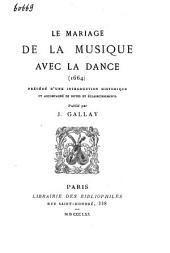 Le mariage de la musique avec la danse (1664)