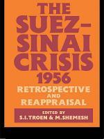The Suez-Sinai Crisis
