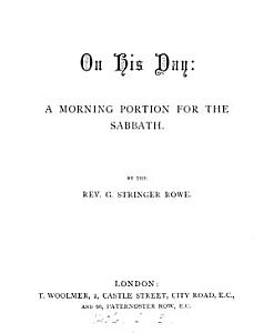 On His Day  a Morning Portion for the Sabbath PDF
