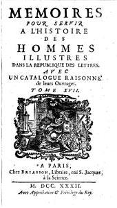 Memoires Pour Servir A L'Histoire des Hommes Illustres