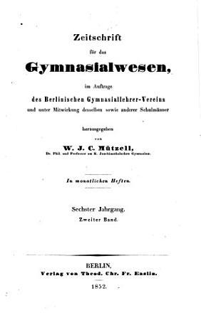 Zeitschrift f  r das Gymnasialwesen PDF