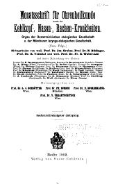 Monatsschrift für Ohrenheilkunde und Laryngo-Rhinologie: Band 36