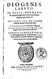 De Vitis, Dogmatis & apophthegmatis clarorum Philosophorum