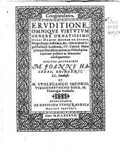 Congratulatio Eruditione, Omnique Virtuum Genere Oratissimo, Iuvene Domino Andreae de Luchis