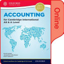 Accounting for Cambridge International AS and a Level Online Student Book PDF