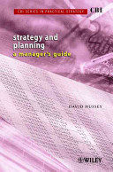 CBI Series in Practical Strategy  Strategy   Planning PDF