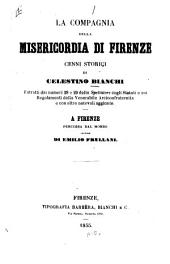 La compagnia della Misericordia di Firenze: cenni storici ...