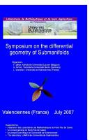 Symposium on the Differential Geometry of Submanifolds PDF