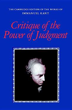 Critique of the Power of Judgment PDF