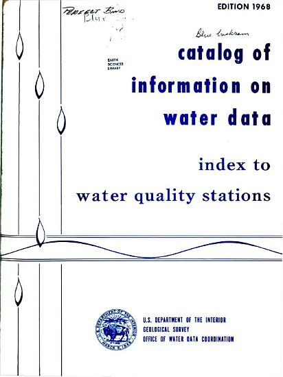 Catalog of Information on Water Data PDF