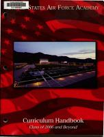 Curriculum handbook with general information concerning     for the United States Air Force Academy PDF
