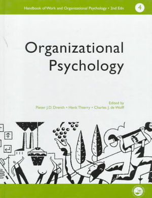 Handbook of Work and Organizational Psychology  Organizational psychology PDF