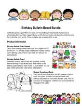 Birthday Bulletin Board Set by Karen's Kids