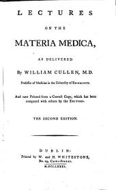 Lectures on the Materia Medica