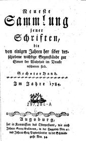 Rede wider das Lesen böser Bücher. Hrsg. von einem Priester aus dem lambertischen Kollegio der Adelichen zu Trier. Zum zweytenmal aufgelegt im Jahre 1784. (germ.)