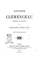 Affaire Clémenceau mémoire de l'accusé par Alexandre Dumas