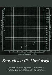 Zentralblatt für Physiologie: Band 13