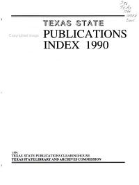 Texas State Publications PDF
