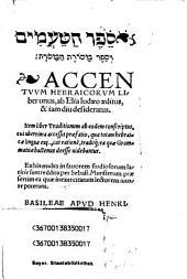 Accentuum Hebraicorum Liber unus