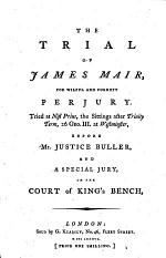 The Trial of James Mair